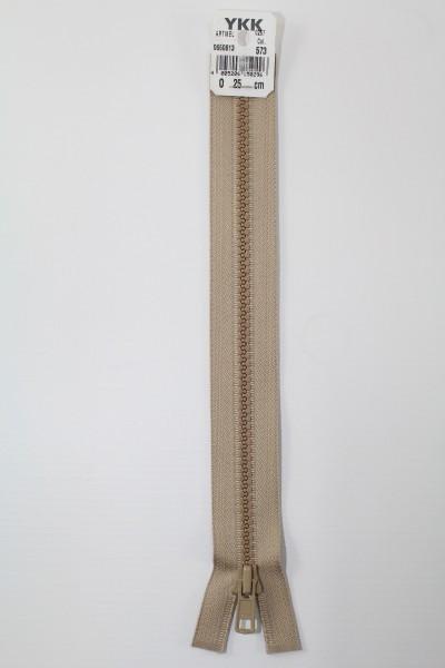 YKK - Reissverschlüsse 25 cm - 80 cm, teilbar, beige