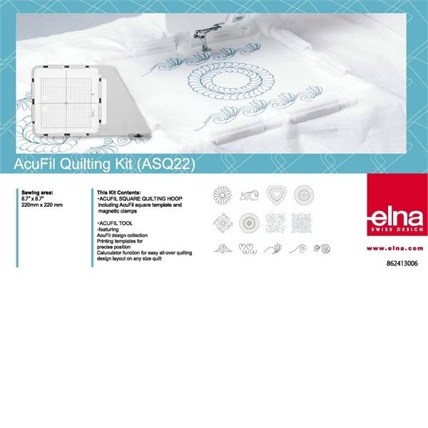 ELNA / JANOME Viereckrahmen Quilt-Set 220x220mm