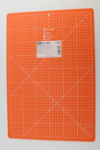 Schneidematte, cm/inch-Einteilung, 30x45cm, orange