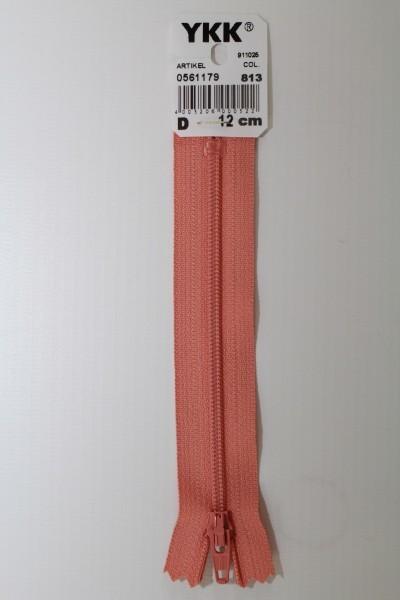YKK-Reissverschluss 12cm-60cm, nicht teilbar, lachsrot