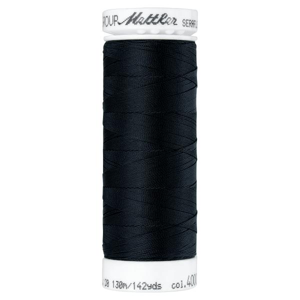 Amann Mettler Seraflex 130m Elastikgarn Nr.4000 (schwarz)