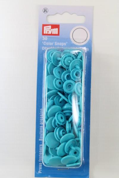 """30 Nähfrei-Druckknöpfe """"Color Snaps"""", rund, 12,4mm, türkis"""