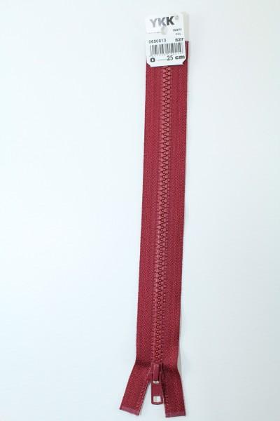 YKK - Reissverschlüsse 25 cm - 80 cm, teilbar, weinrot