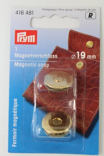 1 Magnetverschluss ø 19 mm gold