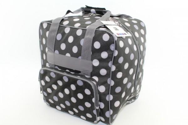 Overlock Tasche XL schwarz mit Punkten (44Hx37Tx41Bcm) von BabySnap
