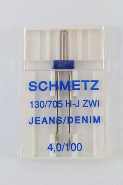 Zwillingsnadel Jeans 130/705 H-J ZWI 4,0/100