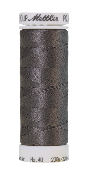 Stickgarn 200 Meter, Farbe:0112, Amann Poly Sheen