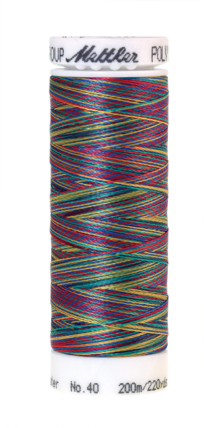 Stickgarn 200 Meter, Farbe:9916, Amann Poly Sheen Multi