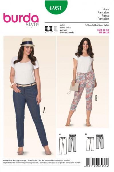 """burda Schnitt 6951 """"3/4 Hose, Jeans"""""""