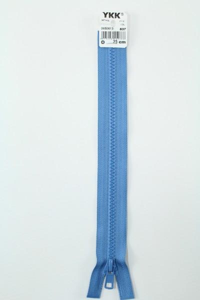 YKK - Reissverschlüsse 25 cm - 80 cm, teilbar, taubenblau