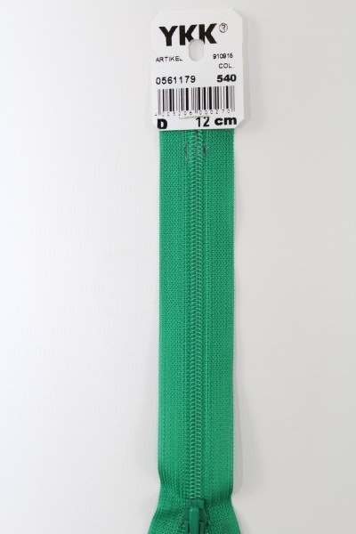 YKK-Reissverschluss 12cm-60cm, nicht teilbar, blattgrün
