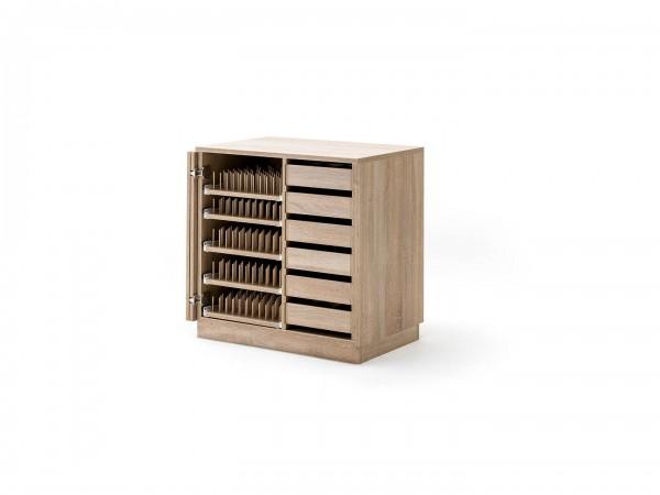 STACK Falt-Türen Kleinteile Container breit mit 5 PIN-Bodenauszüge