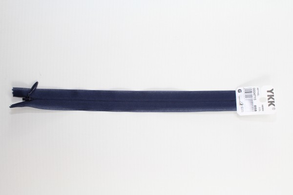 Nahtverdeckter Reissverschluss aus Kunststoff 22cm (marine) Col. 058