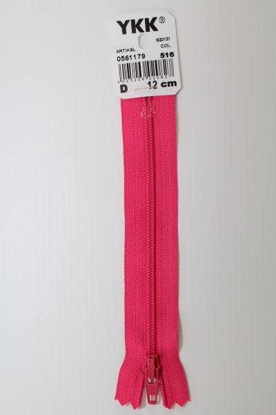 YKK-Reissverschluss 12cm-60cm, nicht teilbar, pink