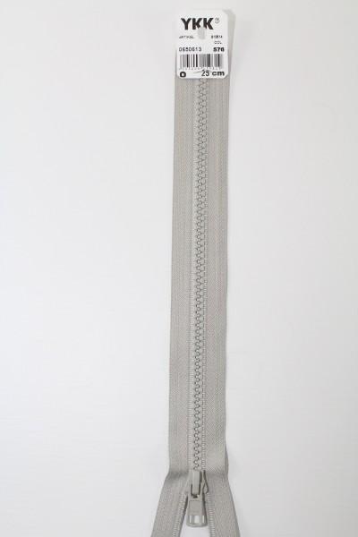 YKK - Reissverschlüsse 25 cm - 80 cm, teilbar, hellgrau