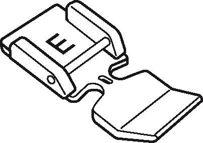 ELNA / JANOME Reissverschlussfuss E (snap on)