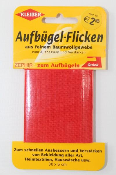 Aufbügel - Flicken 30 x 6 cm rot
