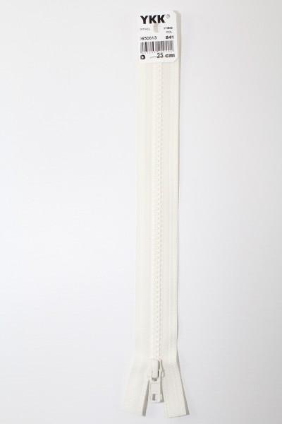 YKK - Reissverschlüsse 25 cm - 80 cm, teilbar, rohweiss