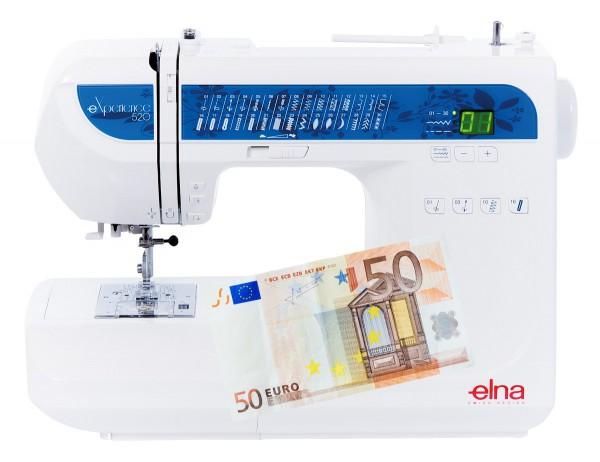 Nähmaschine Elna eXperience 520 - Eintauschpreis