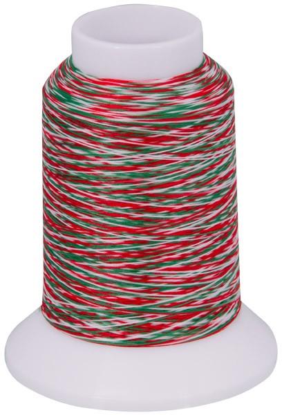 Multicolor Bauschgarn, 1000m (mehrfarbig rot/grün/weiss)