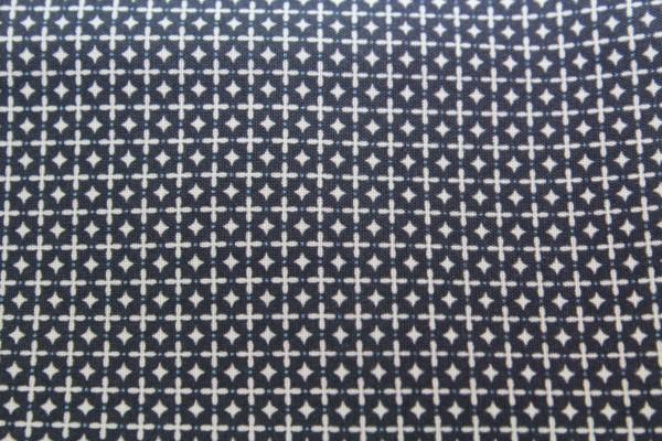 Baumwollstoff Cross Stitch dunkelblau