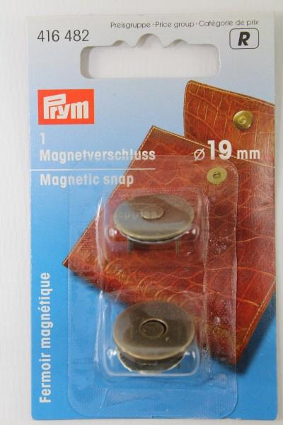 1 Magnetverschluss ø 19 mm altmessing