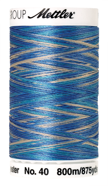 Stickgarn 800 Meter, Farbe:9605, Amann Poly Sheen Multi