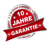 10 Jahre Hanome Garantie bei der Nähwelt Schweizer