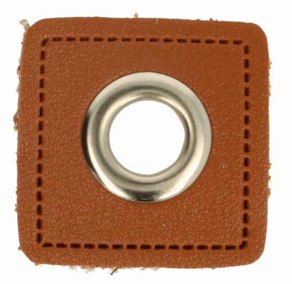 2 Stück Ösen auf Kunstleder 8mm Nickel