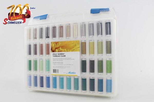 Mettler Stickgarnkoffer gefüllt mit Poly Sheen 200m/96 Farben Jubiläumsangebot Nr. 5