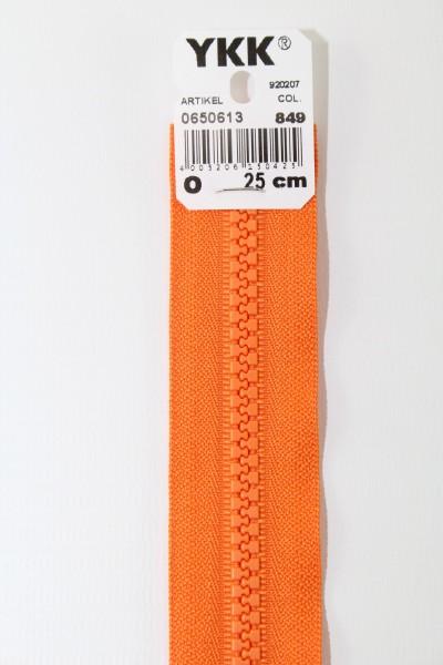 YKK - Reissverschlüsse 25 cm - 80 cm, teilbar, orange