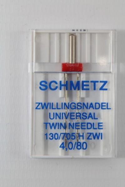 Zwillingsnadel Universal 130/705 H ZWI 4,0/80