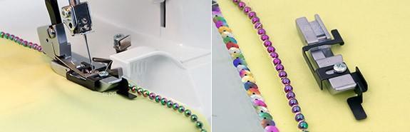 Perlen- und Paillettenfuß