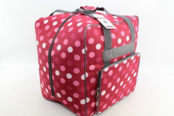 Overlock Tasche XL rot mit Punkten (44Hx37Tx41Bcm) von BabySnap