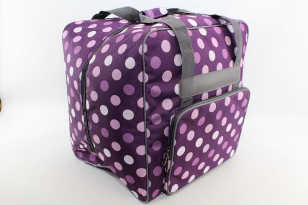 Overlock Tasche XL lila mit Punkten (44Hx37Tx41Bcm) von BabySnap