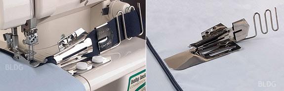 baby lock Doppelfaltschrägbinder mit Führungsrechen (Eingang 30 mm / Ausgang 8 mm)