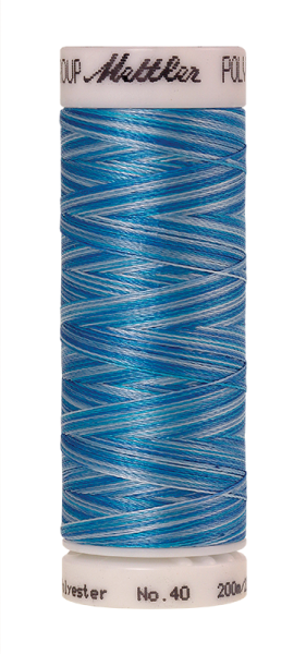 Stickgarn 200 Meter, Farbe:9930, Amann Poly Sheen Multi