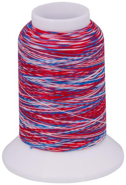 Multicolor Bauschgarn, 1000m (mehrfarbig blau/rot/weiss)
