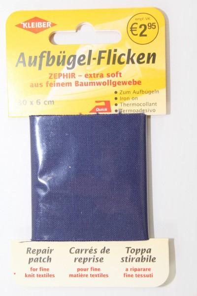 Aufbügel - Flicken 30 x 6 cm dunkelblau