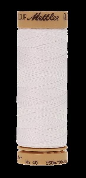 Nähgarn 150 Meter, Farbe:0002, Mettler Quilting, Baumwolle/Polyester, 2fach gewachst 10er Pack