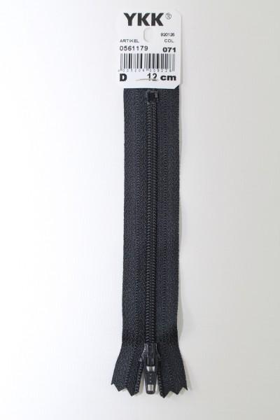 YKK-Reissverschluss 12cm-60cm, nicht teilbar, nachtblau