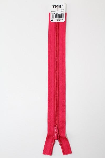 YKK - Reissverschlüsse 25 cm - 80 cm, teilbar, dunkelpink