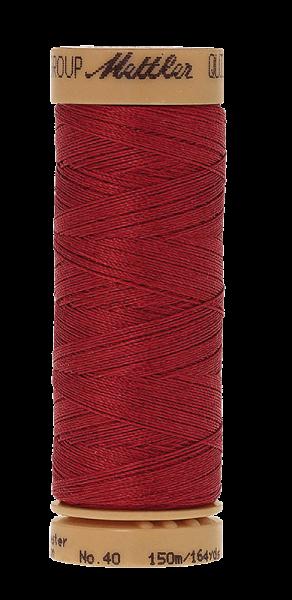 Nähgarn 150 Meter, Farbe:0600, Mettler Quilting, Baumwolle/Polyester, 2fach gewachst 10er Pack