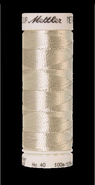 METALLIC silber (100 meter)