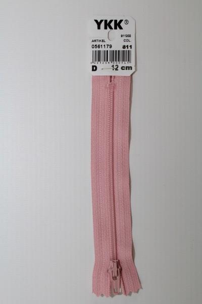 YKK-Reissverschluss 12cm-60cm, nicht teilbar, perlrosa