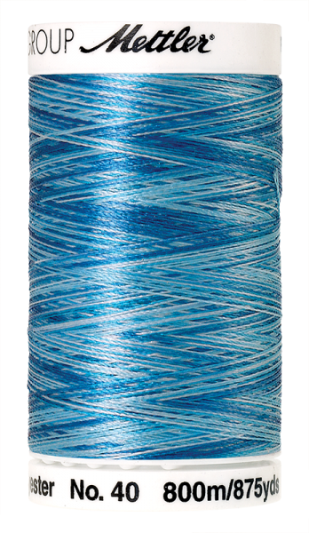 Stickgarn 800 Meter, Farbe:9930, Amann Poly Sheen Multi